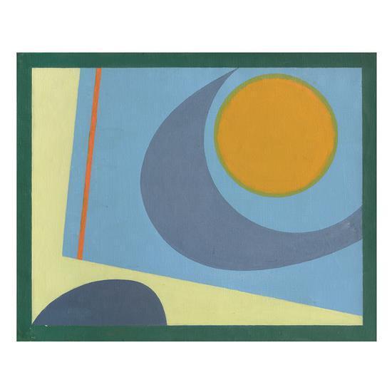 Bamse Kragh-Jacobsen (1913-1992)Composition en bleu, vert et jaune, 1947