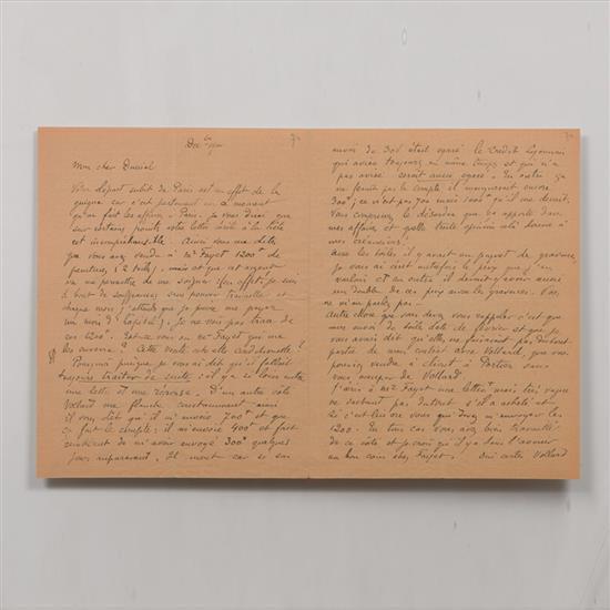 Paul Gauguin (1848-1903)Lettre autographe signée à George-Daniel de Monfreid, [Tahiti], décembre 1900