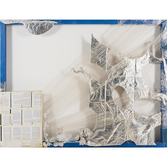 Thomas Hirschorn (né en 1957) Relief abstrait n° 747, 1999 Bois peint, carton, papier aluminium, pellicule plastique et photocop...