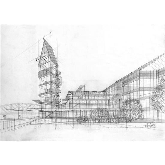 Didier ghislain n en 1958 ensemble de bureau prague arc for Nouvel architecte