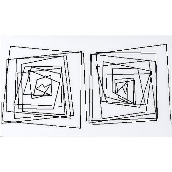 Vera MOLNAR (née en 1924, vit et travaille à Paris) Grecque après tremblement de terre, 2004 Impression numérique sur traceur...