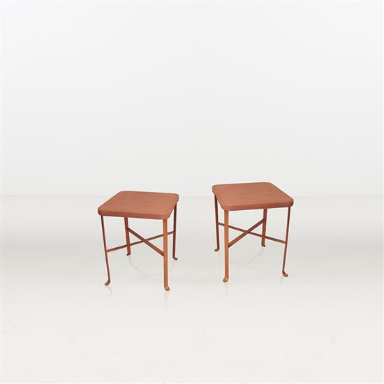 Bennington pottery paire de tables d 39 39 appoint c ramique et a - Tables d appoint ...