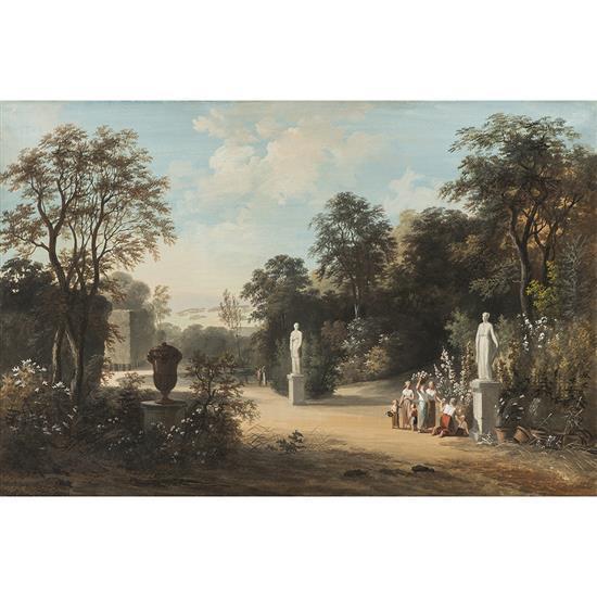 Louis gadbois 1791 1826 actif paris dans un jardin clas for Louis jardin wine