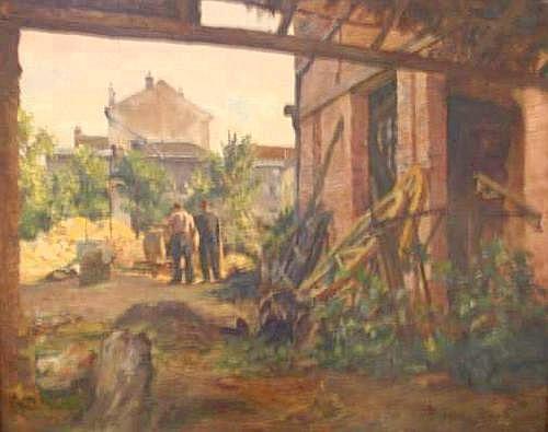 CHAPUIS Pierre(1863-1942) - Cour de ferme