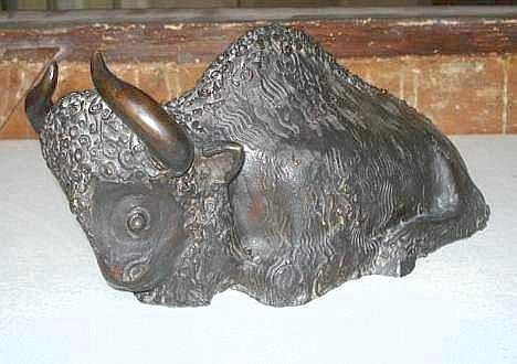 HECHT Joseph (1891 - 1951) - Bison couché