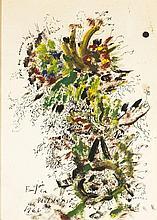 Samuel FEIJÓO (1914-1992) La parisiense, 1966