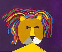 Jorge P. CASTAÑO (1932-2009) Etude pour tête de lion, 1985