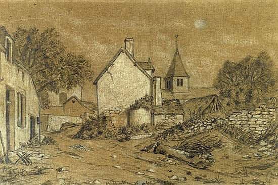Maurice SAND (1823-1889). DESSIN original a la
