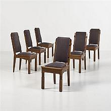 Travail étrangerSuite de six chaises