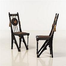 Carlo Bugatti (1856-1940)Paire de chaises