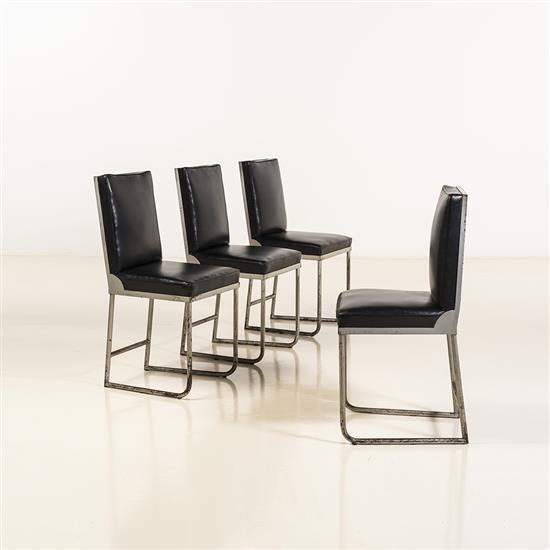 Djo Bourgeois (1898-1937)Suite de quatre chaises