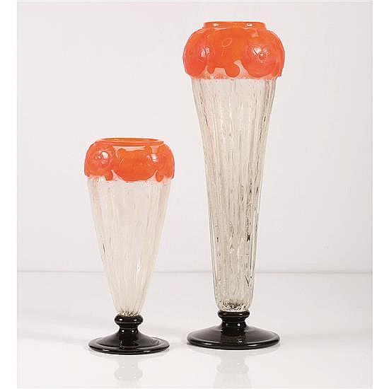 Charles Schneider (1881-1953)Vase « Camélias »