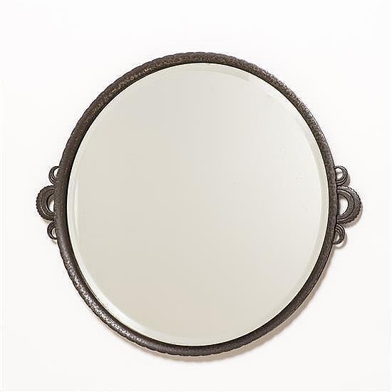 Edgar Brandt (1880-1960)Miroir circulaire