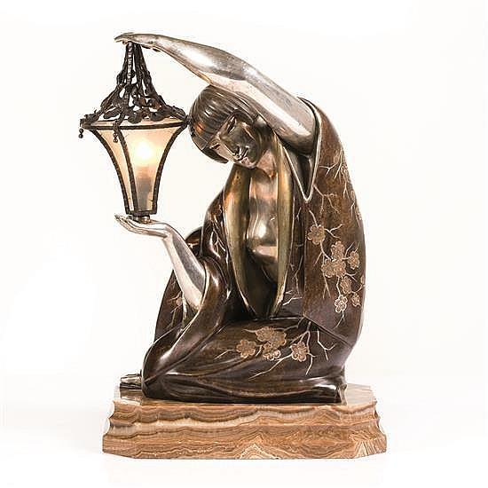 Maurice Guiraud Rivière (1881-1947)Sculpture formant lampe