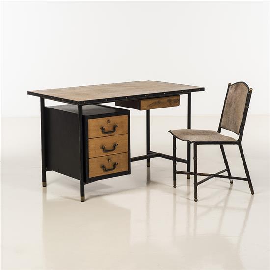 Jacques Adnet (1900-1984)Bureau et sa chaise