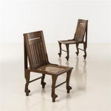 Travail AnglaisPaire de chaises néo-égyptiennes