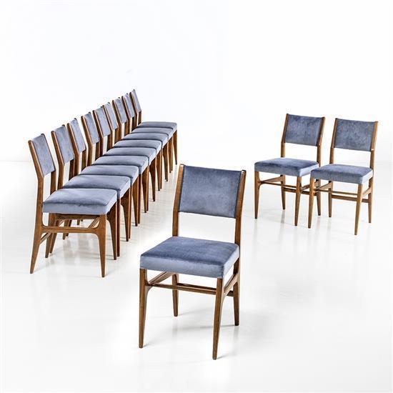 gio ponti 1891 1979 mod le 116 s rie de douze chaises noye. Black Bedroom Furniture Sets. Home Design Ideas