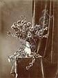 (Attribué à) Adolphe BRAUN (1811-1877) Bouquet de fleurs en vase,  années 1860 Épreuve d'époque sur papier albuminé montée sur suppo..