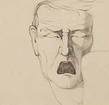Marcel-Louis Baugniet (1896-1995) Le cri, vers 1920
