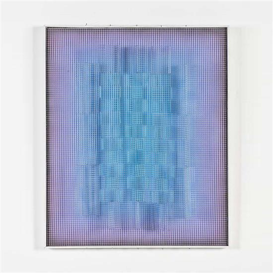 Yvan Contreras-Brunet (né en 1927)Cobalt et violet transparence, 1997