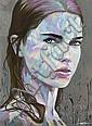 NOE TWO (né en 1974) Blue woman, 2011 Acrylique et marqueur peinture sur toile signée en bas à droite,  NOE TWO, Click for value