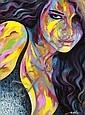 NOE TWO (né en 1974) Woman full, 2011 Acrylique et marqueur peinture sur toile signée en bas à droite,  NOE TWO, Click for value