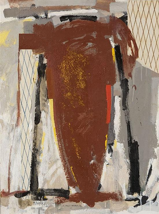 Gérard TITUS-CARMEL (né en 1942) Egéennes - peinture #9, 1993Acrylique et collage de papier sur toile signée et datée en bas...