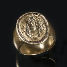 Réplique de l'anneau sigillaire de Childéric en or