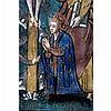 Baiser de Paix en émail peint polychromeavec rehauts d'or représentant la Crucifiion