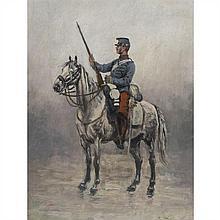 Edouard Detaille (Paris 1848-1912)SoldatPanneau44,5 x 34 cmSigné en bas à droite Edouard Detaille