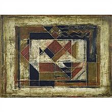 Akkitham Narayanan (né en 1939)Composition géométrique, 1979Huile sur toileSignée et datée 79 en bas à droite97 × 130 cm