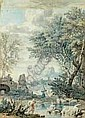 Isaac de MOUCHERON (Amsterdam 1676-1744) - Paysage, Isaac de Moucheron, Click for value