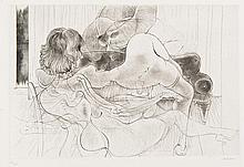 Hans BELLMER (1902-1975) Sur canapé, 1966