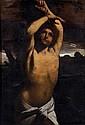 * Attribué à Louis FINSON, d'après Guido RENI(1580-1617) Saint Sébastien Toile 134 x 93,5 cm (Restaurations) Reprise du tableau de G..
