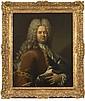 Robert LEVRAC TOURNIERES (Ifs 1667-Caen 1752) Portrait d'homme en habit brun