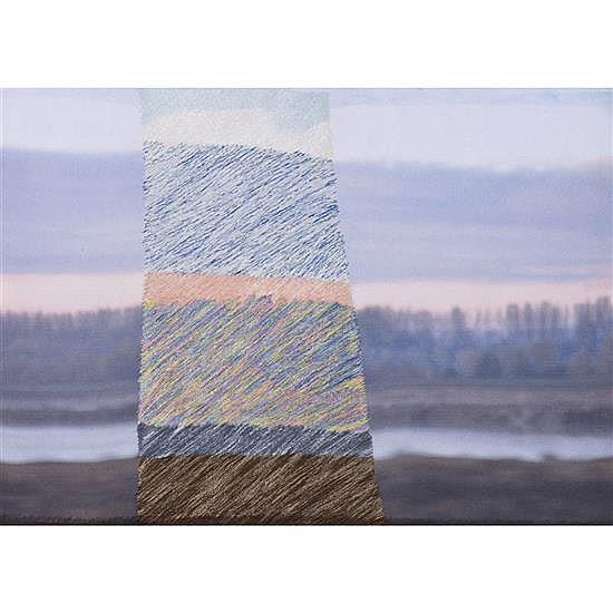 Aurélie Mathigot (née en 1971) Sans titre, 2014 Photo imprimée sur toile, broderie de fil Signée, datée 2014 et numérotée 1/1...