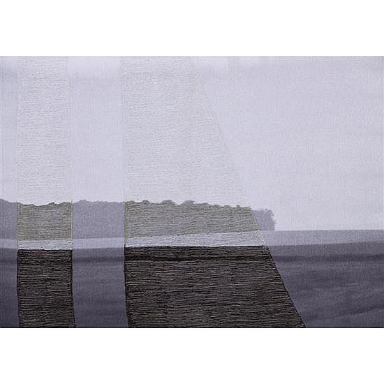 Aurélie Mathigot (née en 1971) Silencieuse, 2014 Photo imprimée sur toile, broderie de fil Signée datée et numérotée 1/1 au do...