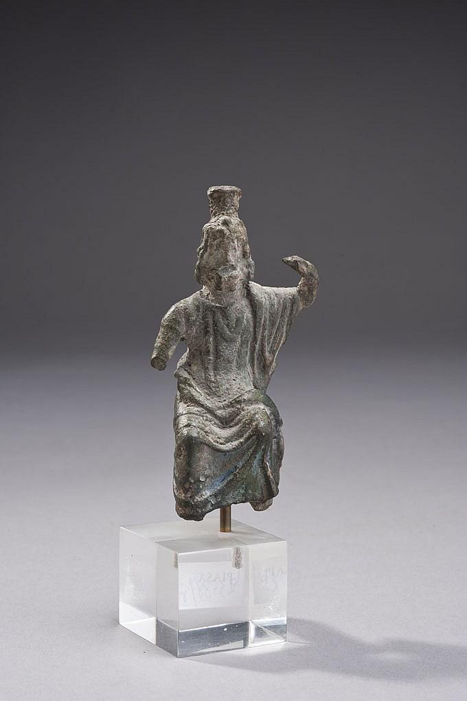 Statuette représentant le dieu Jupiter Sérapis, assis, la tête sommée du modius