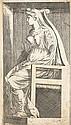 Antonio Fantuzzi (vers 1508-vers 1560) Femme assise sur un fauteuil. Vers 1545. Eau-forte. 122 x 218. Zerner, L'École de Fontaineble..
