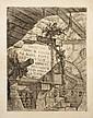 Giambattista Piranesi (1720-1778) Page de titre : Images fantastiques de prisons. Carceri, pl. 1. 1749. Eau-forte. 414 x 540. Hind 1...