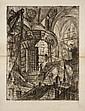 Giambattista Piranesi (1720-1778) La Tour Circulaire. Carceri, pl. 3. 1749. Eau-forte. 410 x 540. Hind 3 ; Robison 30. Superbe et ra...