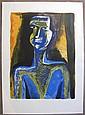 Ossip Zadkine (1890-1967) La Négresse. Vers 1960. Lithographie. 425 x 570. Czwiklitzer non décrit. Impression en couleurs. Épreuve s...