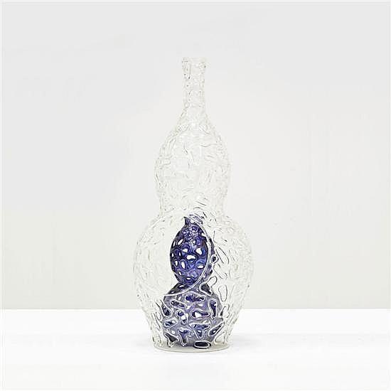 Andrea Anastasio (né en 1961) Giliegio Vase Verre Collection Ostiti Signé Date de création : 1999 H 55 cm