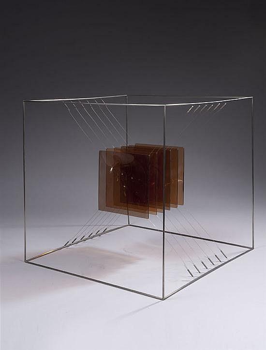 Piotr KOWALSKI (1927-2004) Cube gris, 1967