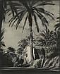 M. MAURER (Tunis) Portraits et paysage, années 1920 3 épreuves gélatino-argentiques d'époque montées sur supports cartonnés. Signées...