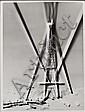 RENÉ-JACQUES (René GITON dit) (1908-2003) La Tour Eiffel solarisée, Paris, 1946 Épreuve gélatino-argentique des années 1970. Cachet ...