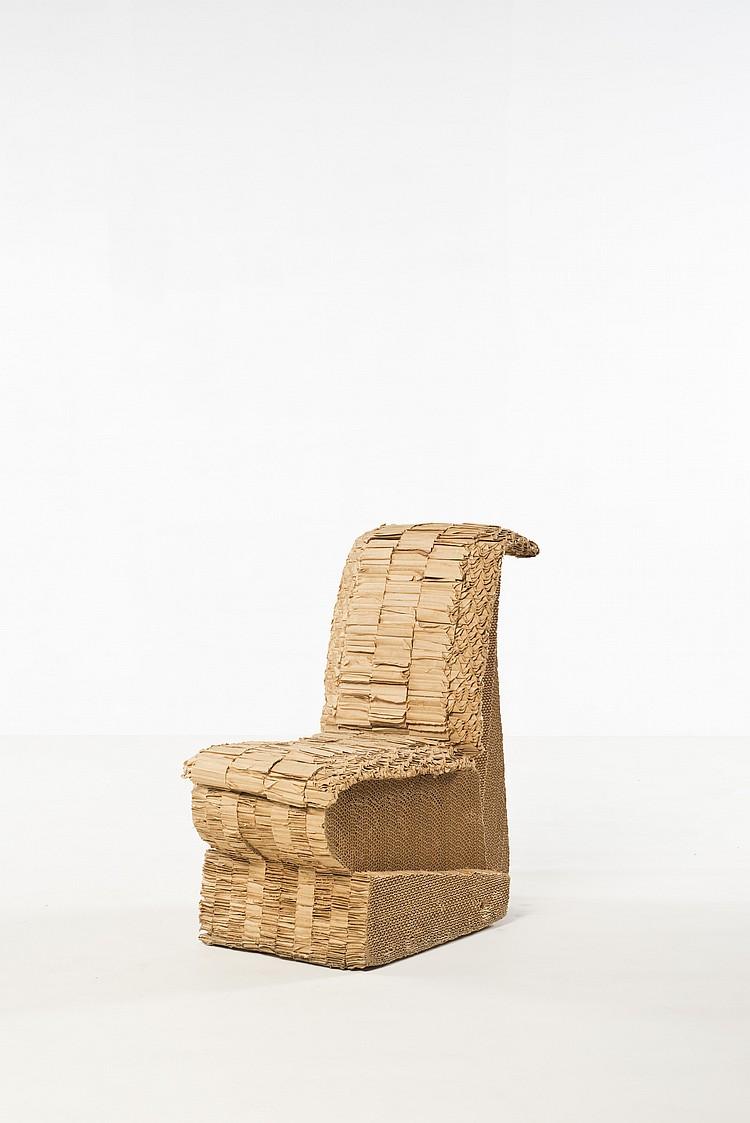 Frank Gehry Chaise Carton frank gehry (né en 1929) sitting beaver chair, experimental