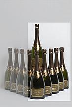 6 bouteilles CHAMPAGNE Krug 1979 (très belles)