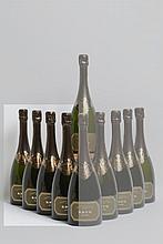 4 bouteilles CHAMPAGNE Krug 1979 (très belles)