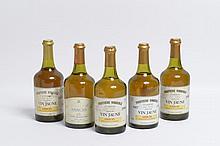 5 bouteilles VIN JAUNE D'ARBOIS, Fruitière Vinicole [2 de 1986, 1 de 1985 ets, 1 de 1987, 1 de 1989]